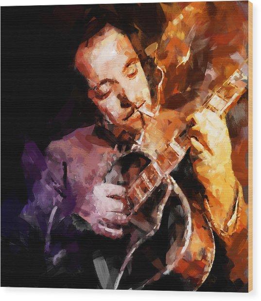 Django Reinhardt Wood Print by Andy Whorewal