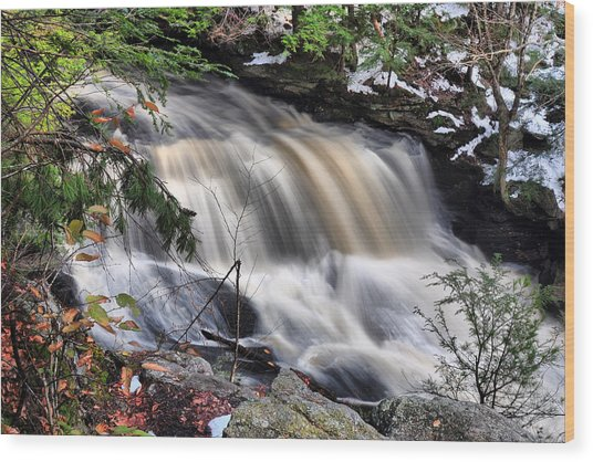 Doane's Lower Falls In Central Mass. Wood Print