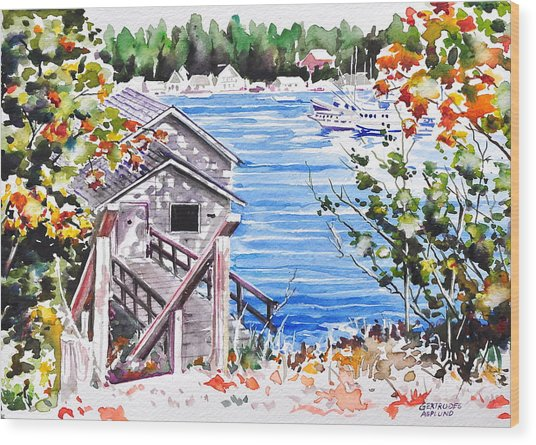 Harborview Drive View Wood Print