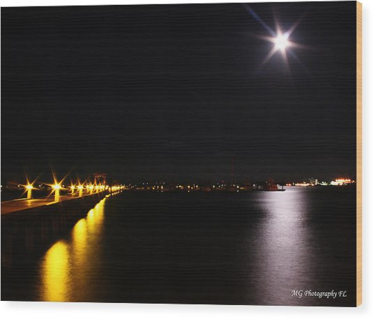 Wood Print featuring the photograph Dock Side by Marty Gayler