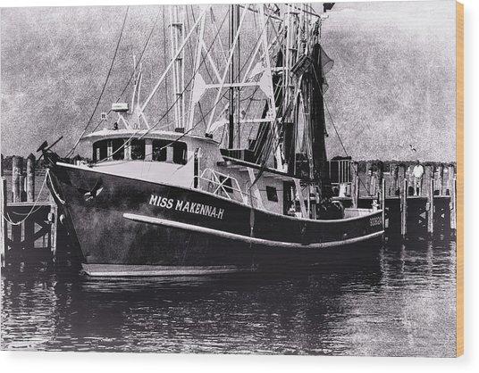 Docked Back Bay Wood Print by Barry Jones