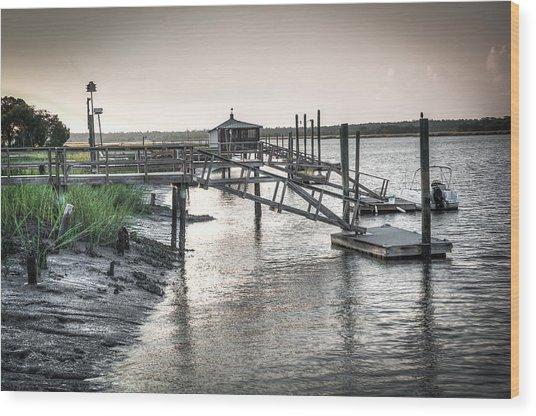 Docks Of The Bull River Wood Print