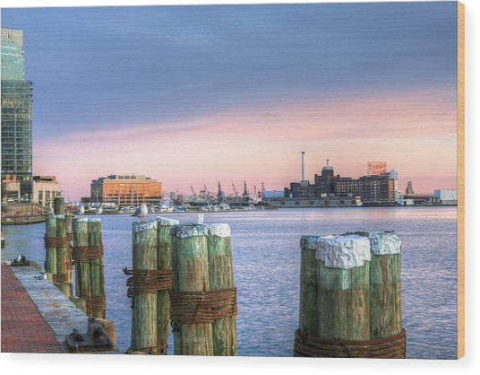 Dockside Wood Print