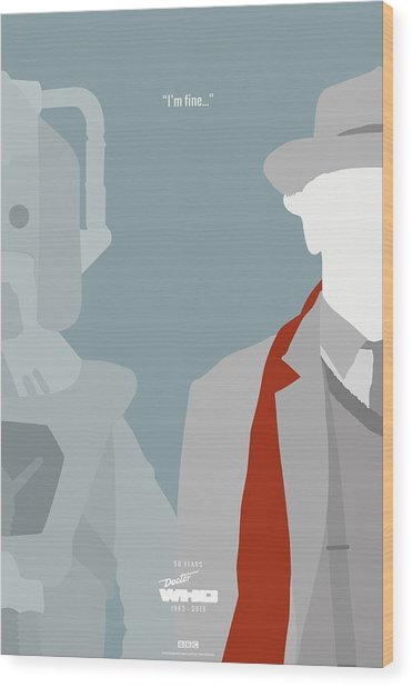Doctor Who 50th Anniversary Poster Set Seventh Doctor Wood Print by Jeff Bell