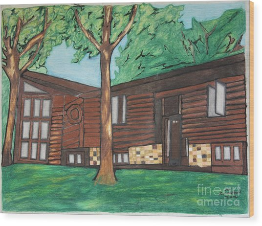 Doctor's House Wood Print