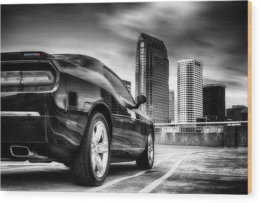 Dodge Challenger Tampa Skyline  Wood Print