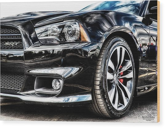 Dodge Charger Srt Wood Print