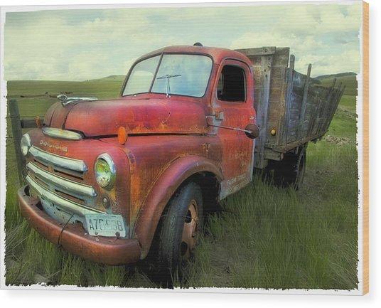 Dodge Farm Truck  Wood Print