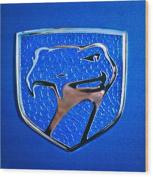 Dodge Viper Emblem -217c Wood Print