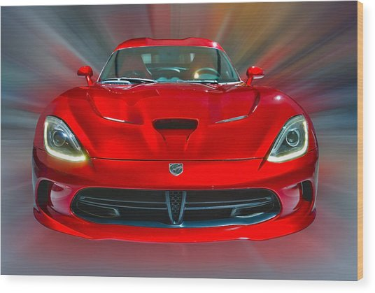 Dodge Viper Srt  2013 Wood Print