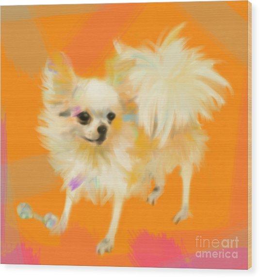 Dog Chihuahua Orange Wood Print