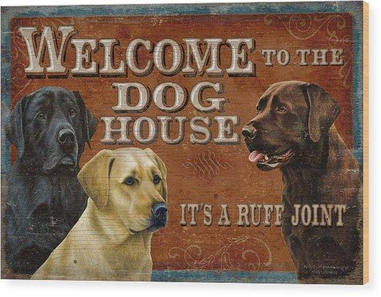 Dog House Wood Print