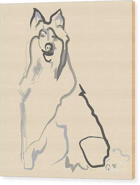 Dog - Lassie Wood Print