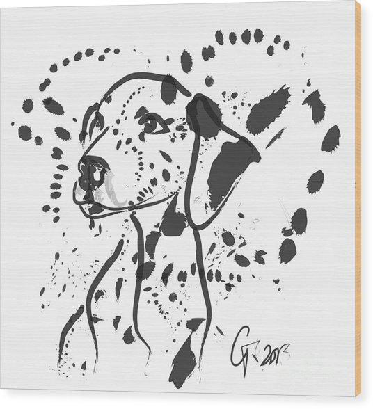 Dog Spot Wood Print
