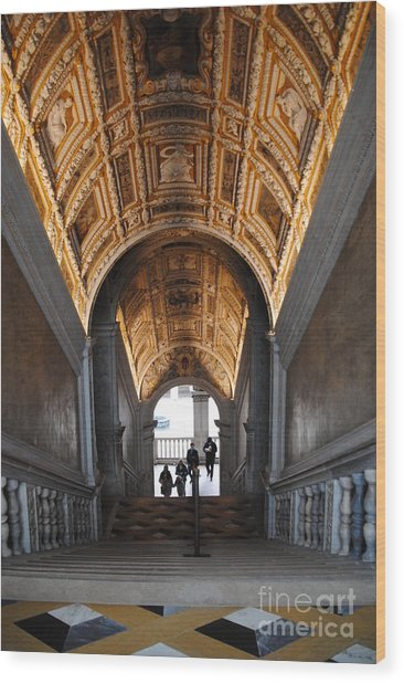 Doges Palace Entry Wood Print by Jacqueline M Lewis
