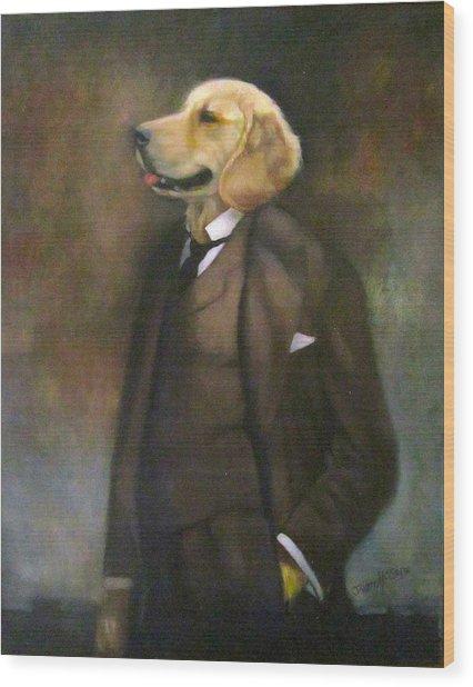 Doggone Executive Wood Print
