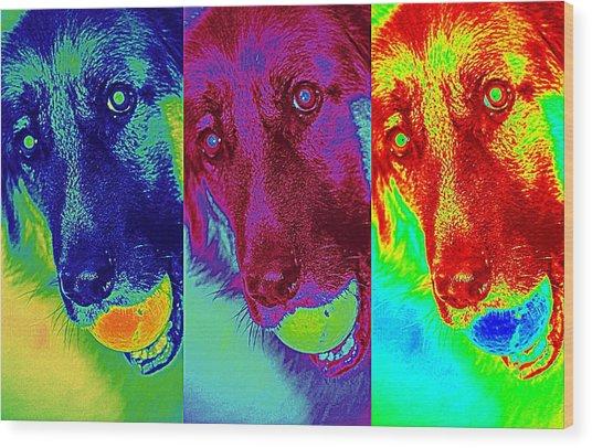 Doggy Doggy Doggy Wood Print