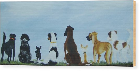 Dogs Looking For Our Forever Home Wood Print