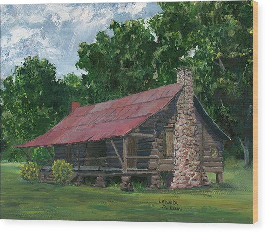 Dogtrot House In Louisiana Wood Print