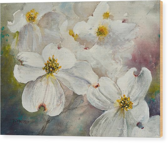 Dogwood 6 Wood Print