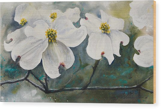 Dogwood 7 Wood Print