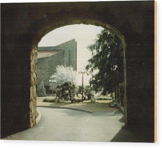 Dogwood Arch Wood Print