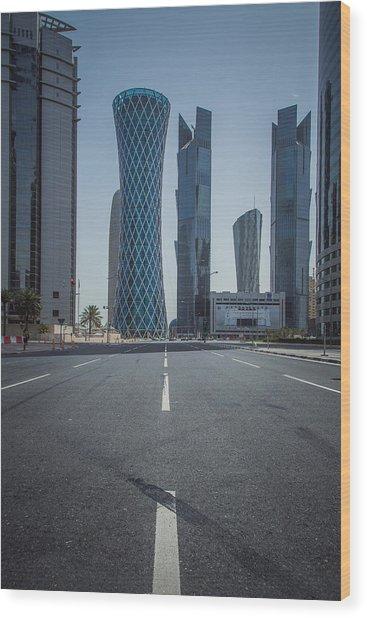 Doha Road Wood Print by Charlie Tash