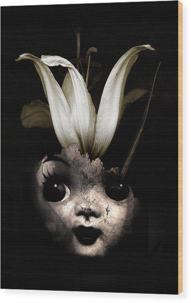 Doll Flower Wood Print
