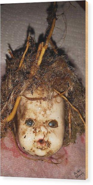 Doll Head Wood Print