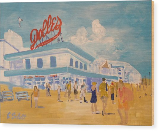 Dolles Salt Water Taffy Wood Print