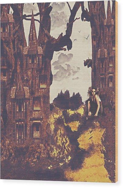 Dollhouse Forest Fantasy Wood Print