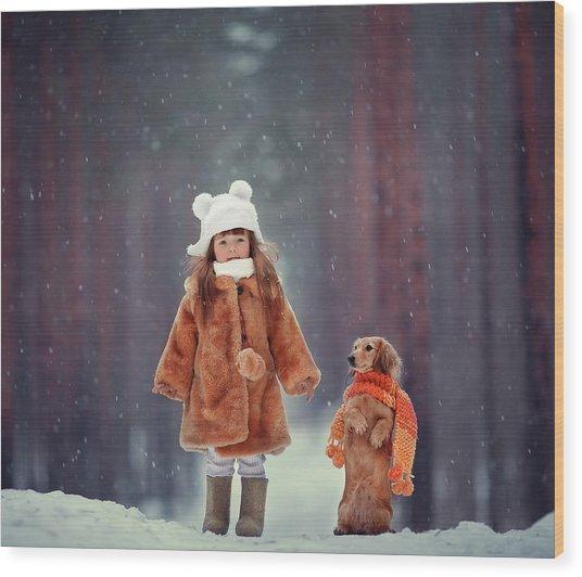 Dolls Wood Print by Anna Melnikova