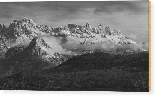 Dolomite Mountains - Italian Alps Wood Print
