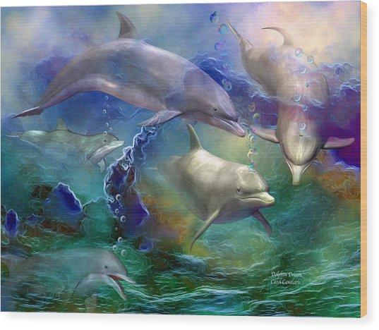Dolphin Dream Wood Print