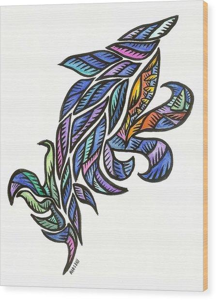 Dolphin Jump Wood Print