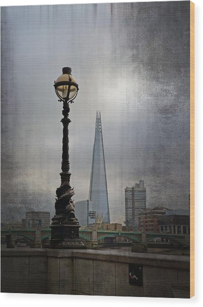 Dolphin Lamp Posts London Wood Print