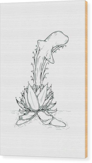 Dolphin Wood Print by Matt Sutherland