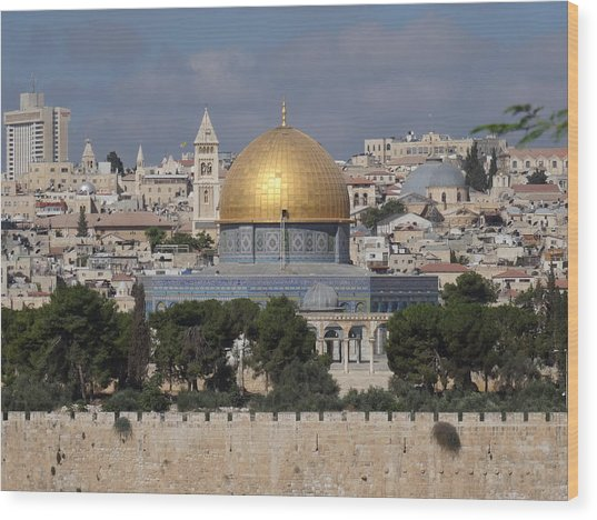 Dome On The Rock  Wood Print