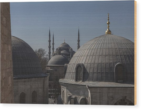 Domes And Minarets Wood Print by Adriano Ficarelli
