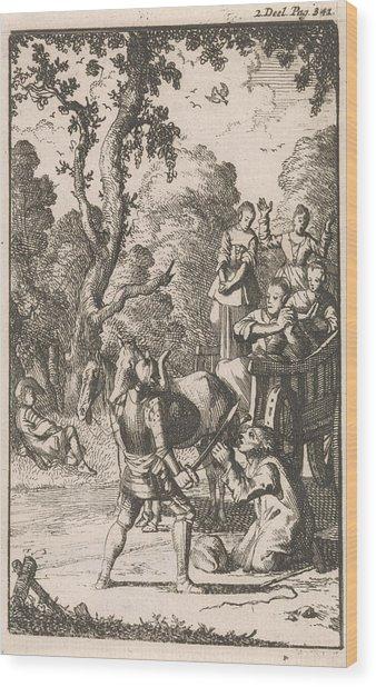 Don Clarazel Attack A Farmer Who Transports Four Women Wood Print