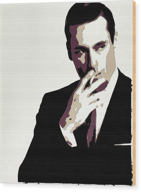 Don Draper Poster Art Wood Print