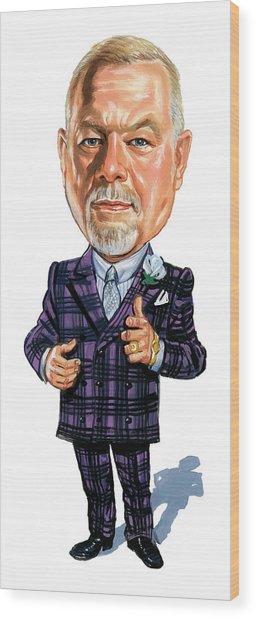 Don Grapes Cherry Wood Print
