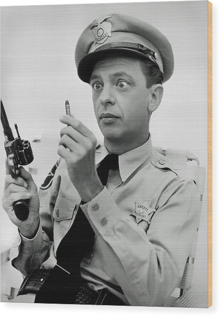 Barney Fife - Don Knotts Wood Print