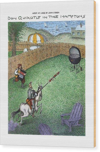 Don Quixote In The Hamptons Wood Print