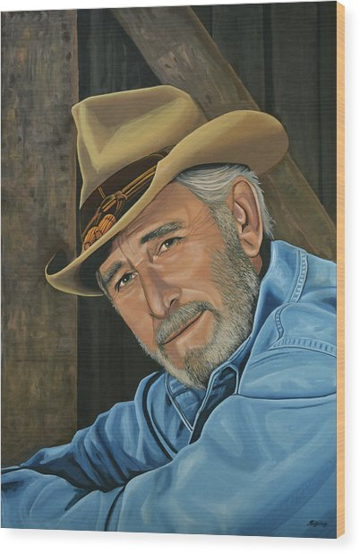 Don Williams Painting Wood Print