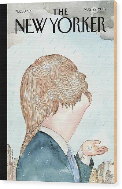 Donald's Rainy Days Wood Print by Barry Blitt