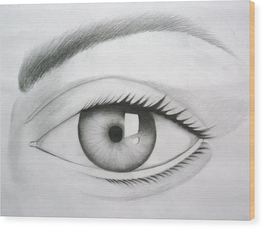 Donate Your Eyes Wood Print by Tanmay Singh