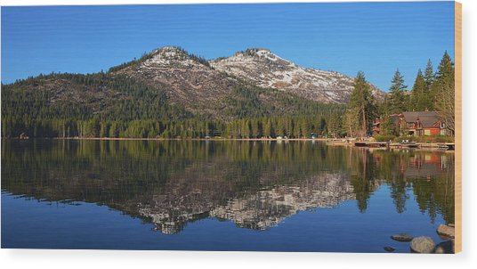 Donner Lake Reflection Wood Print