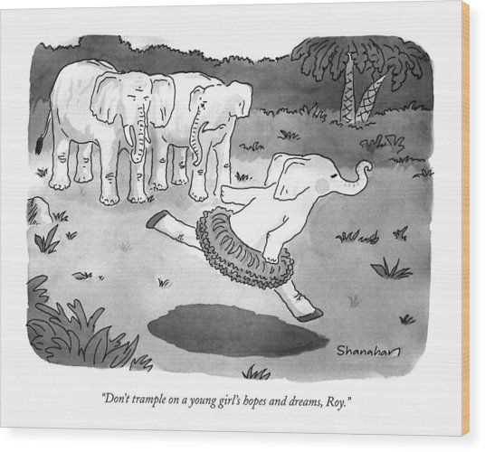 Don't Trample On A Young Girl's Hopes And Dreams Wood Print