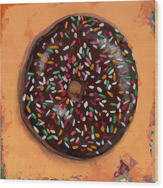 Donut #2 Wood Print